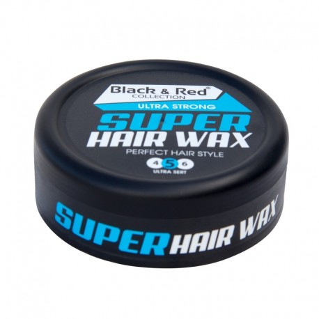 Black and Red Ultra Strong Super Hair wax 150 ml