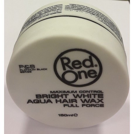 Red One Maximum Control Bright White Aqua Hair Wax Full Force 150 ml